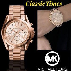 **NEW** MICHAEL KORS BRADSHAW MK5503 CHRONOGRAPH Q